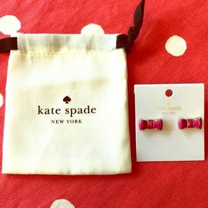 Kate Spade Hot Pink Bow Studs